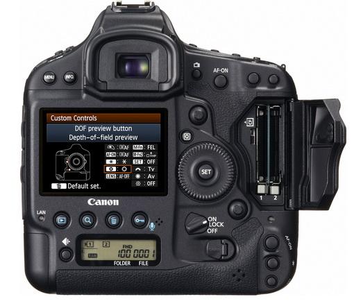 Canon EOS-1D X vu de dos