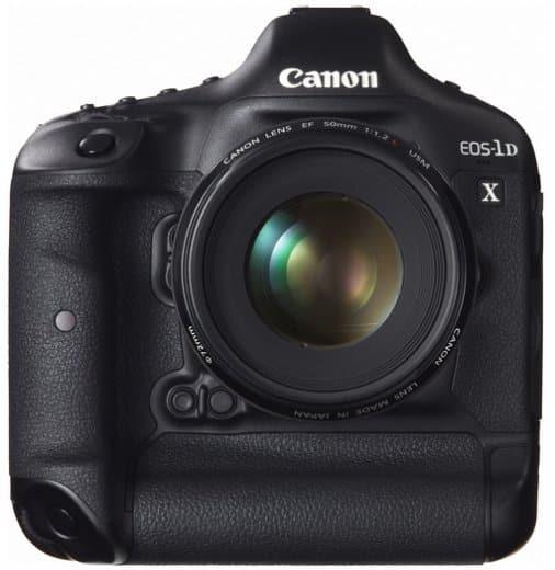 Canon EOS-1D X vu de face