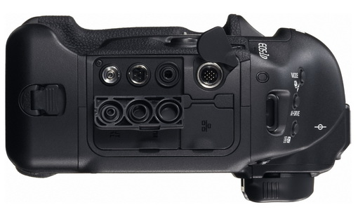 Canon EOS-1D X vu de cote et connectivité