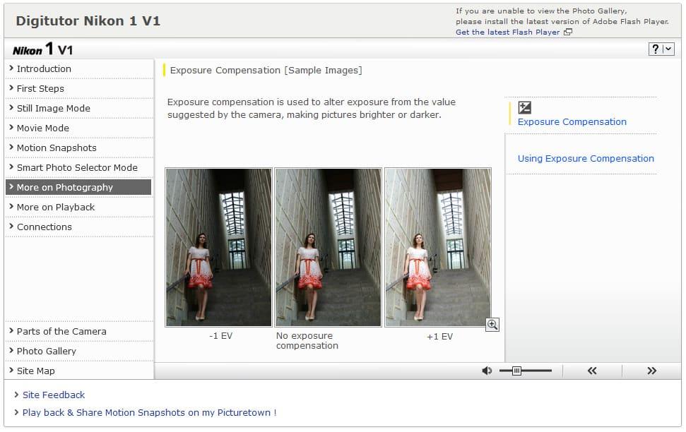 Nikon One V1 et J1 digitutor : les guides interactifs