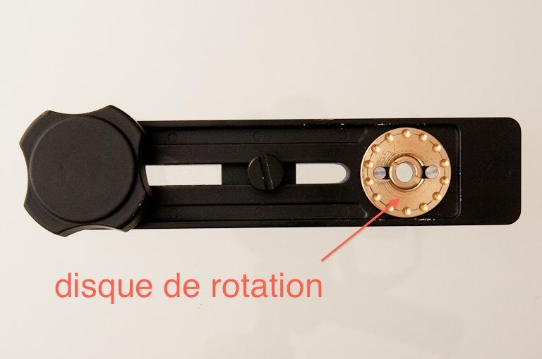 disque rotation pour réaliser photos panoramiques