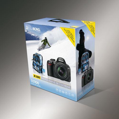 pack promo nikon D3100 avec sac photo billabong