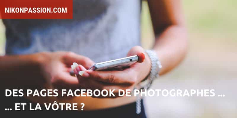 Des pages Facebook de photographes