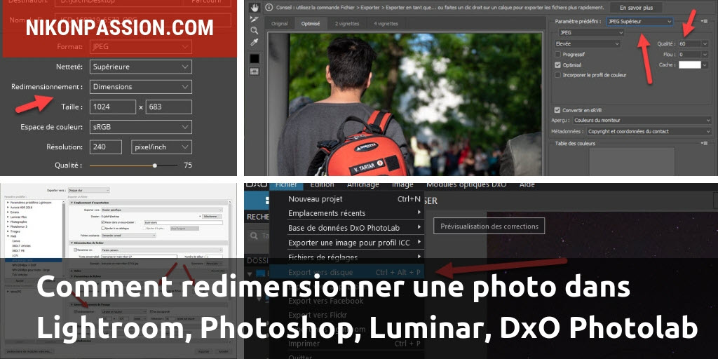 Comment redimensionner une photo