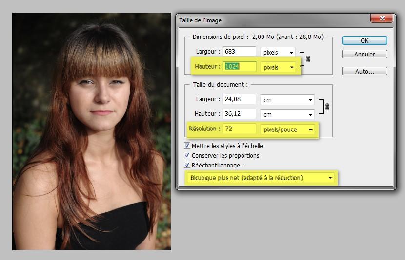 tutoriel comment Redimensionner une image dans Photoshop CS5