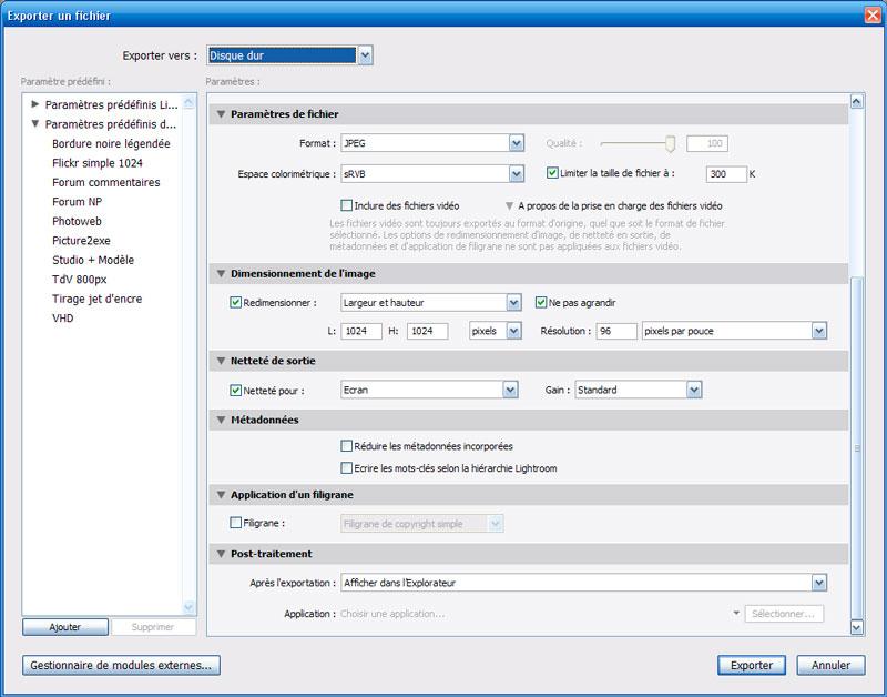 Comment redimensionner une image dans Adobe Lightroom 3