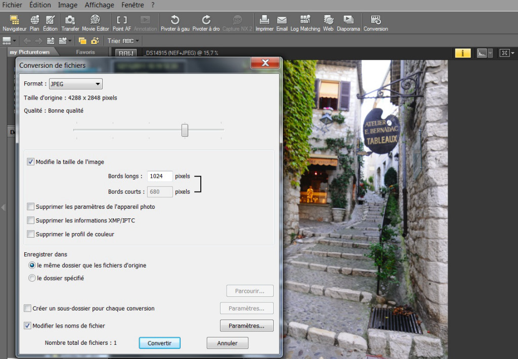 comment redimensionner des images dans photoshop  capture nx2 ou lightroom 3
