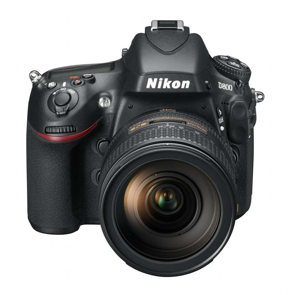 Nikon D800 vu de face