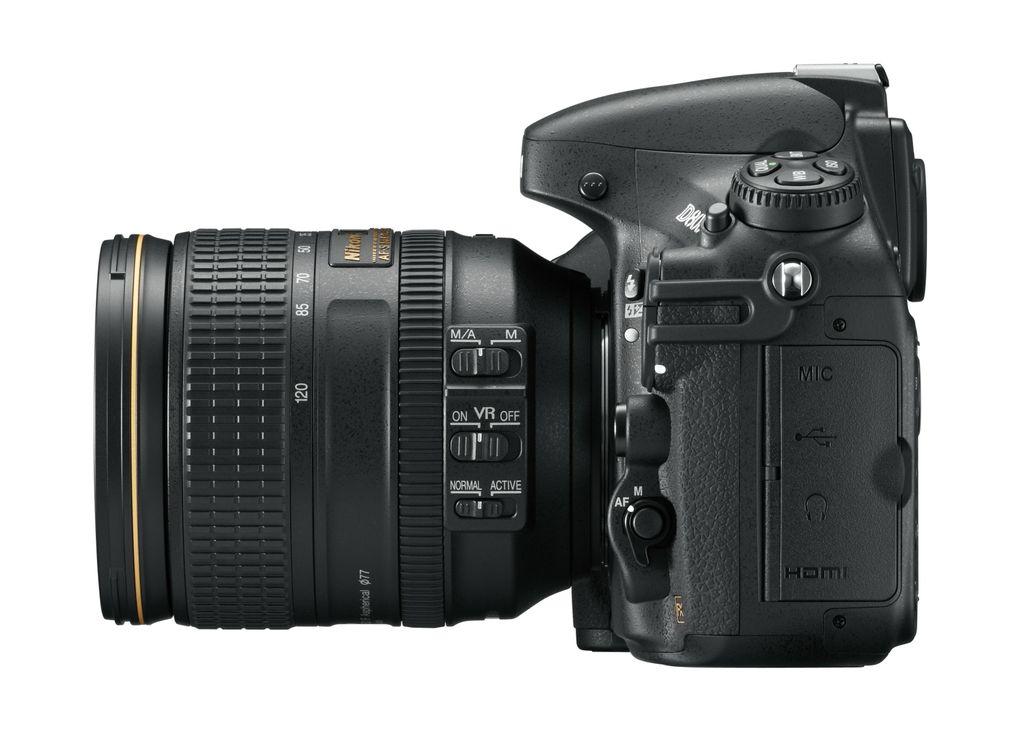 Nikon D800 connectique gauche