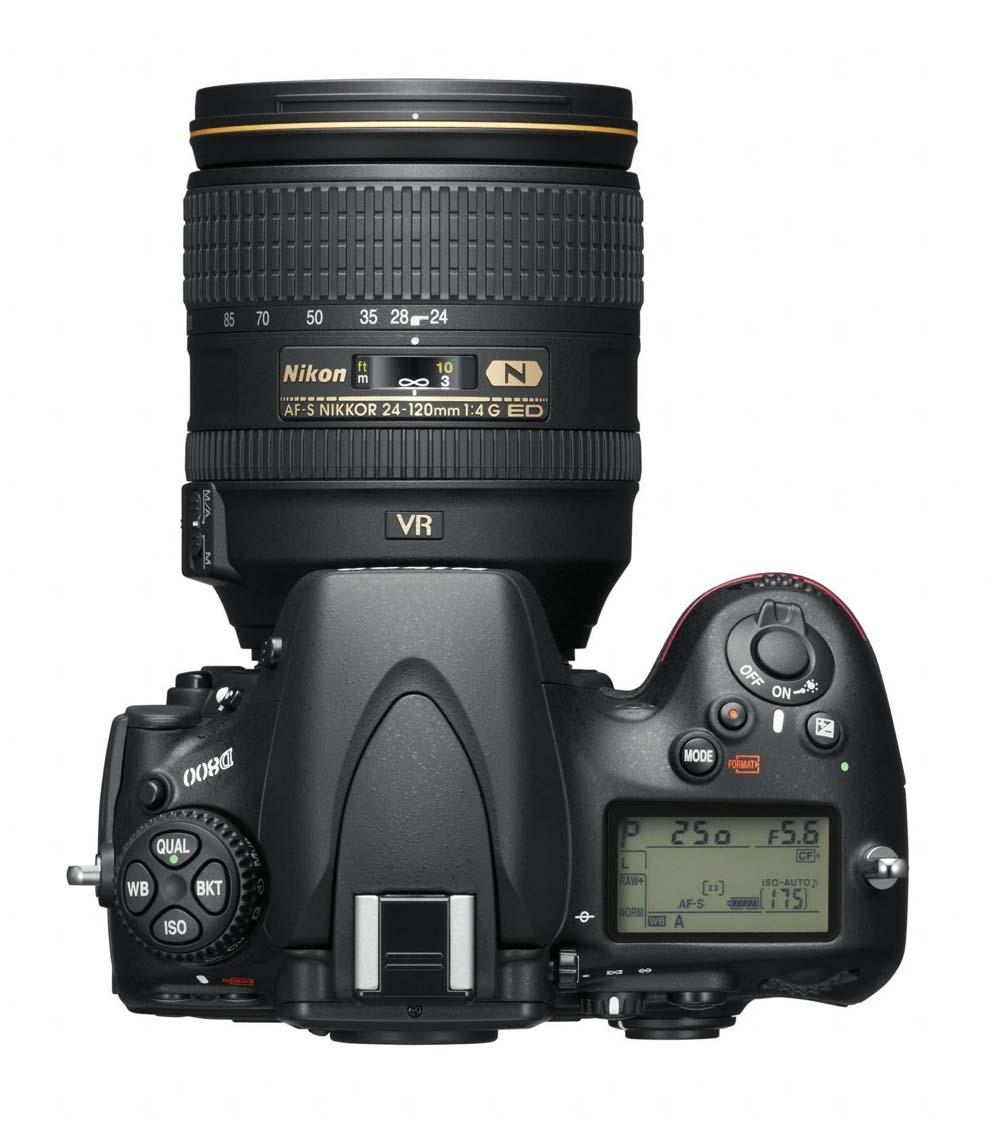 Nikon D800 vu de dessus