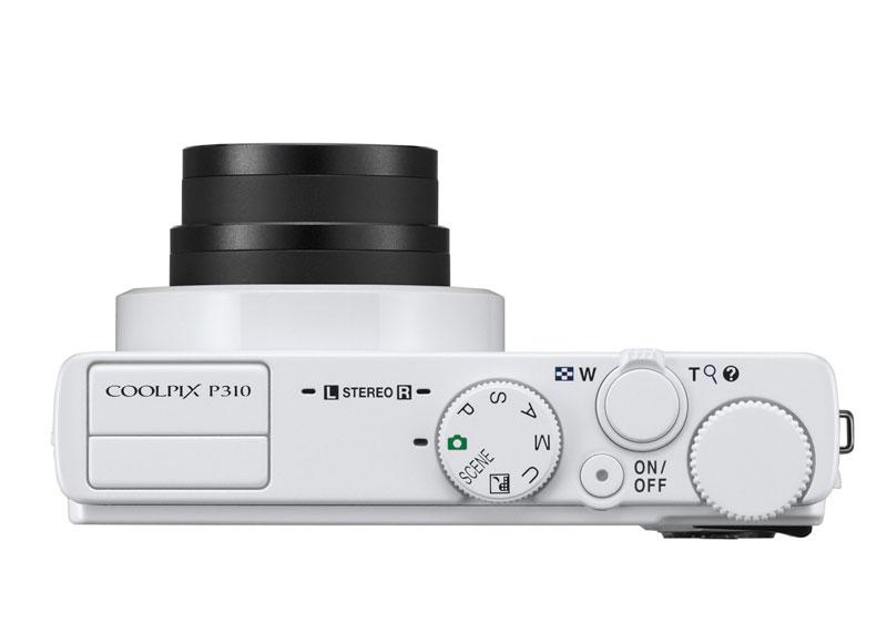 Nikon Coolpix  P310 vu de dessus
