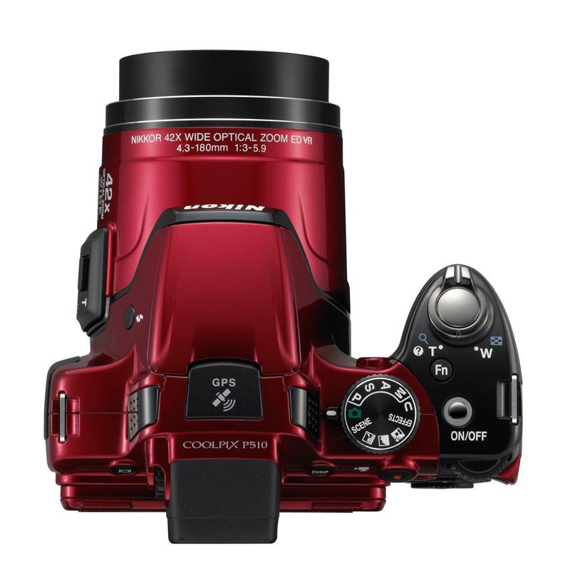 Nikon Coolpix  P510 vu de dessus