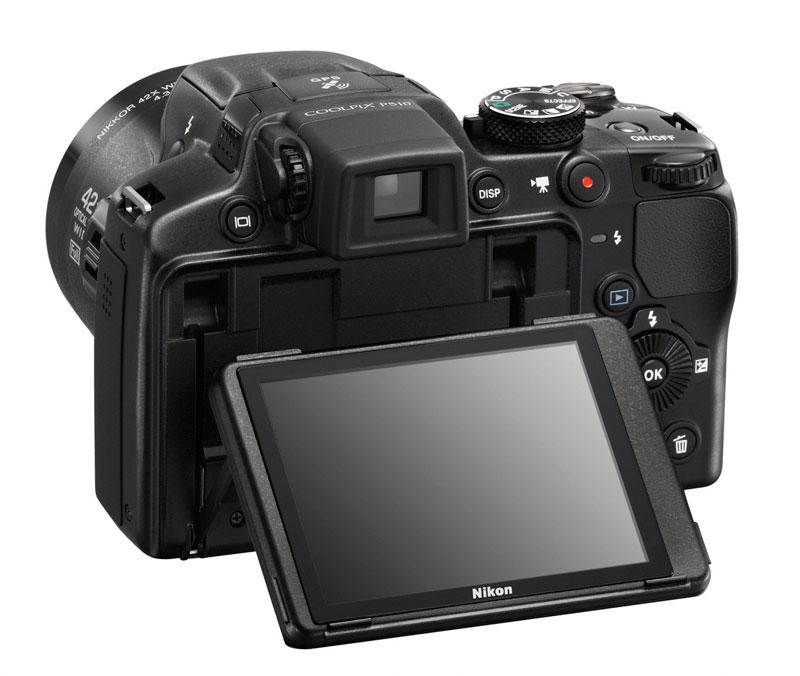 Nikon Coolpix  P510 vu de derrière
