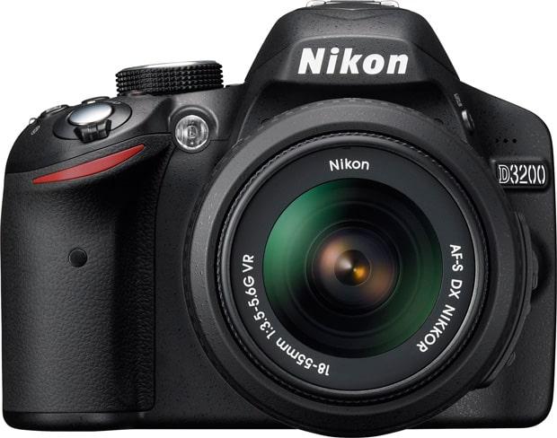 Nouveau Nikon D3200 vue de face