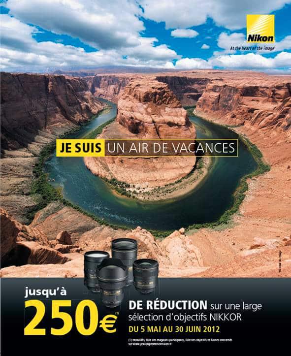 Cashback Nikon : remboursement de 250 euros sur une sélection d'objectifs et de flashs
