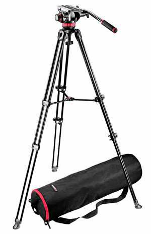 Kit Trépied Rotule Manfrotto MVH502A avec technologie Bridging pour les tournages vidéos