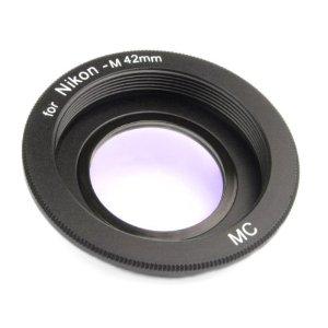 bague d'adaptation pour monter un objectif M42 sur un boîtier reflex Nikon