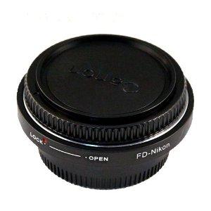 bague d'adaptation pour monter un objectif Canon FD sur un reflex Nikon