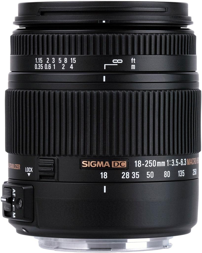 Sigma 18-250mm f/3,5-6,3 DC MACRO OS HSM, zoom APS-C x13