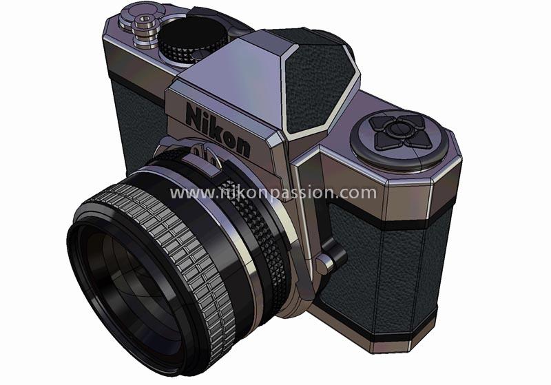 Nikon FTD vu de profil