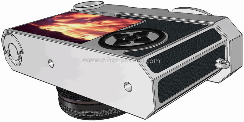 Nikon SD vu de dessous avec écran arrière