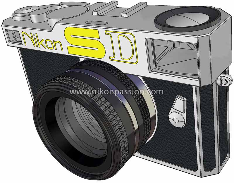 Nikon SD vu de profil face