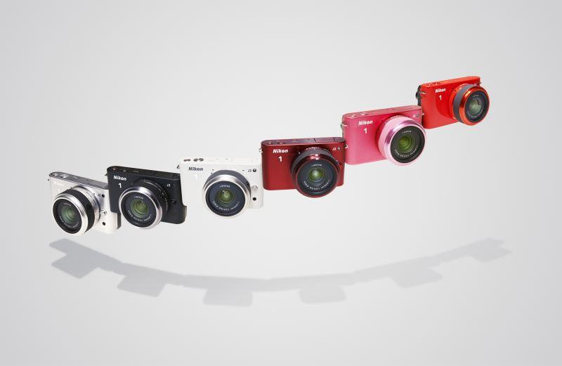 Nikon One J2 : la gamme de 5 coloris différents