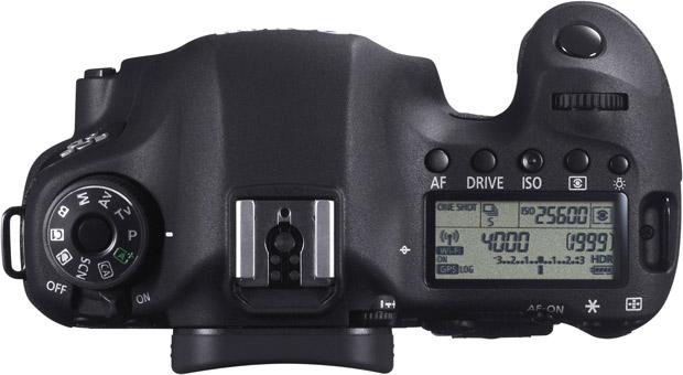 Canon EOS 6D vu de dessus