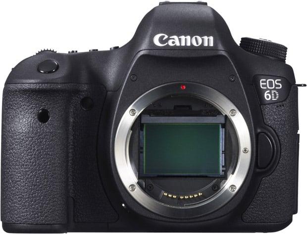 Canon EOS 6D vu de face