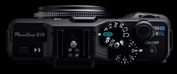Canon Powershot G15 vu de dessus