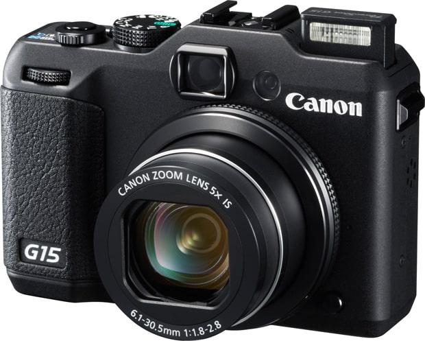 Canon Powershot G15 vu de face