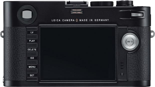 Leica M vu de dos