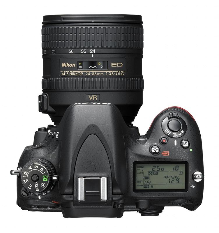Nikon D600 vu de dessus