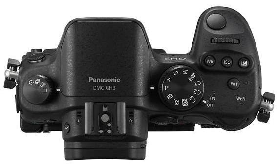 Panasonic Lumix GH3 vu de dessus