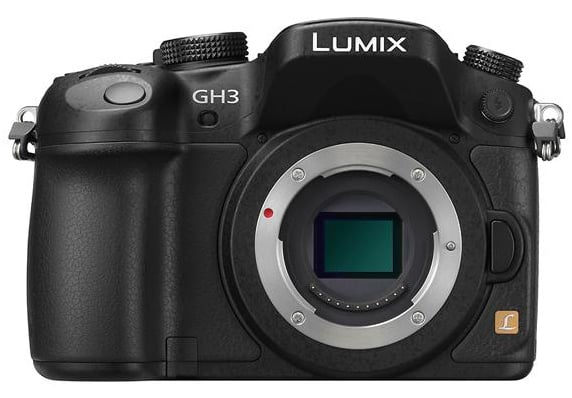 Panasonic Lumix GH3 vu de face