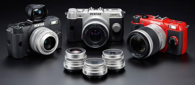 Pentax Q10 la gamme d'objectifs et de boîtiers
