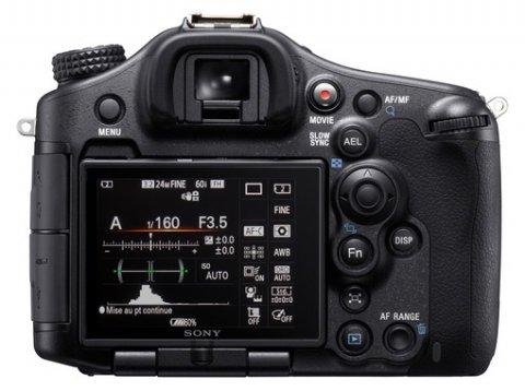 Sony A99 vu de dos avec écran orientable