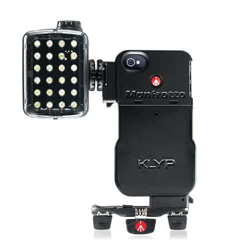 Manfrotto KYLP, kit trépied et/ou lumières LED pour iPhone 4 et iPhone 4s