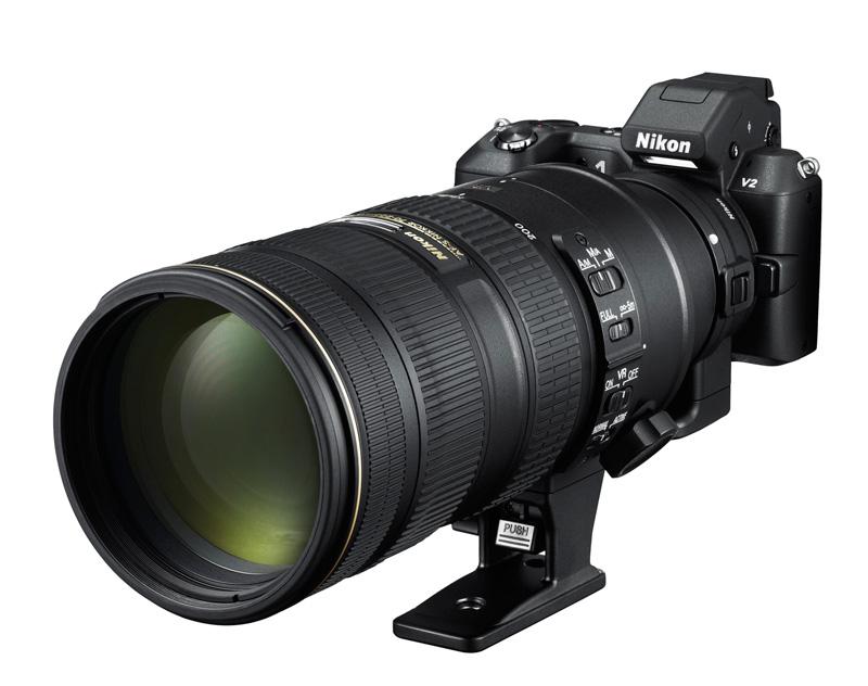 Nikon 1 V2 avec adaptateur FT1