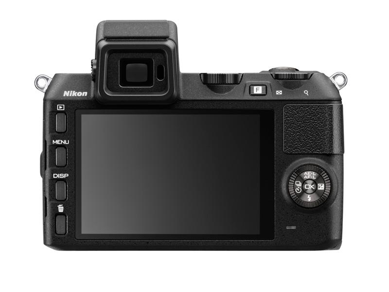 Nikon 1 V2 noir vu de dos