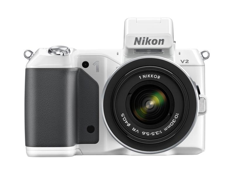 Nikon 1 V2 blanc vu de face