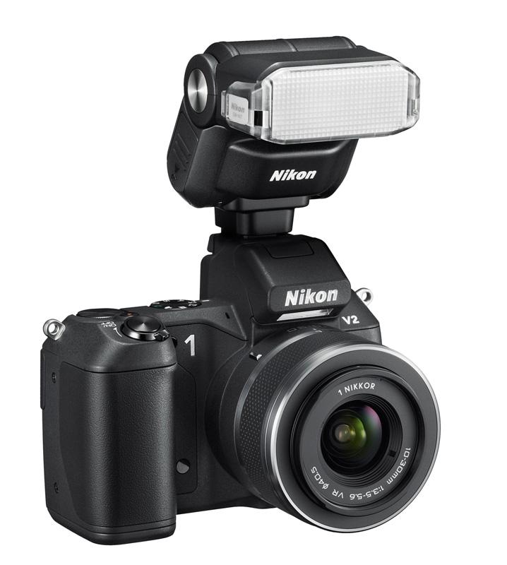 Nikon 1 V2 avec flash