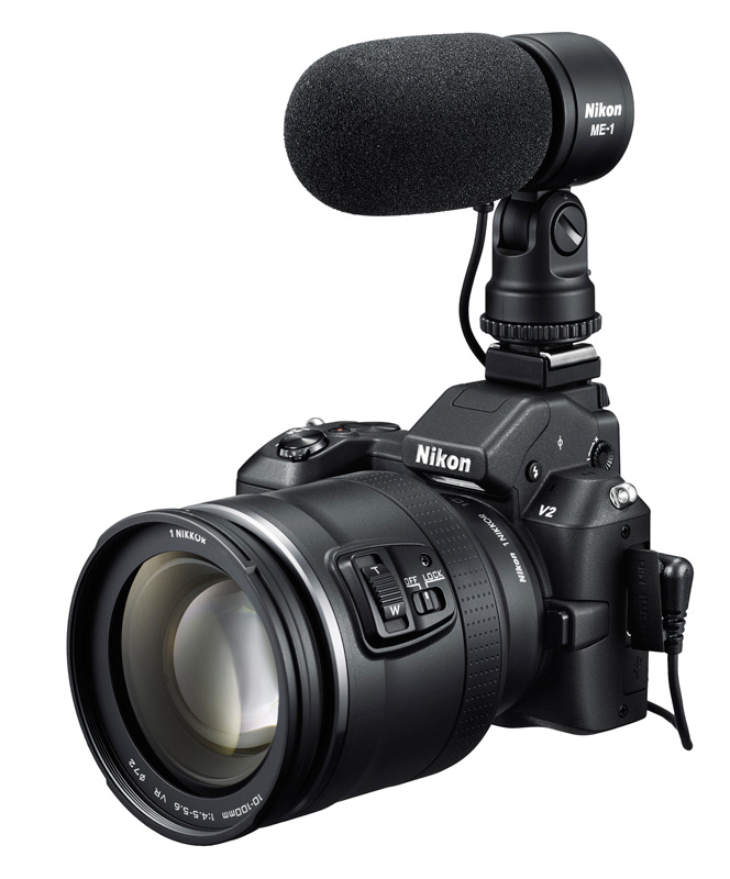 Nikon 1 V2 noir avec micro
