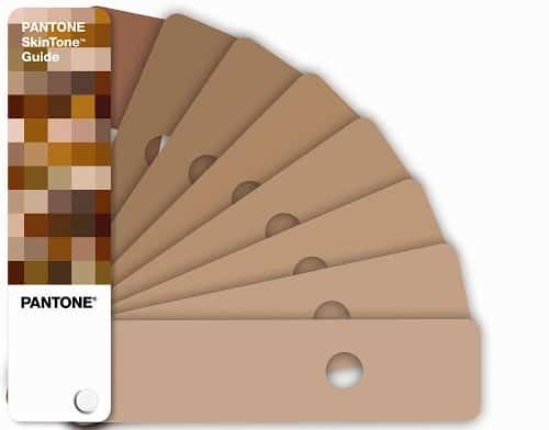 Pantone, guide de correspondance SkinTone avec palette de 110 teintes de peaux