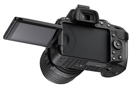 Nikon D5200 : écran LCD orientable