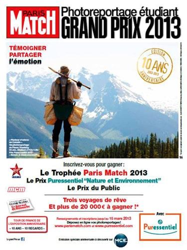 Grand Prix Paris Match du Photoreportage Etudiant 2013