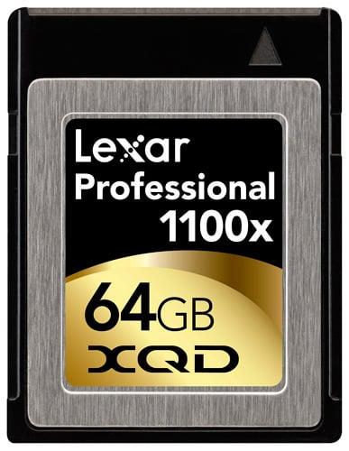 Carte Lexar Professional 1100x XQD 32 Go et 64 Go