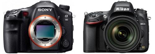 Comparatif capteur Nikon D600 - Sony Alpha 99 : test DxO
