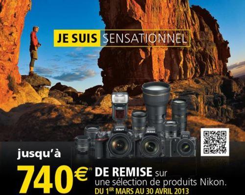 Promotion Nikon Printemps 2013 : jusqu'à 740 euros de remise