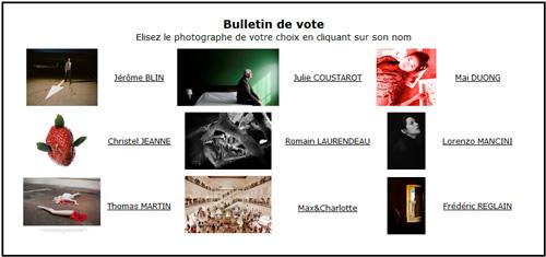 Votez pour le lauréat du Prix Zoom Salon de la Photo 2013